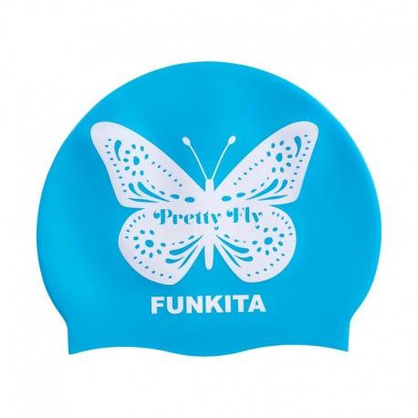 Czepek Pływacki Silikonowy Funkita Pretty Fly Blue