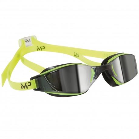 Okulary Pływackie Michael Phelps Xceed Mirror Zielono/Czarne