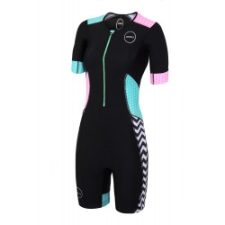 STRÓJ TRIATHLONOWY ZONE3 ACTIVATE+ SHORT SLEEVE ZEBRA 2018