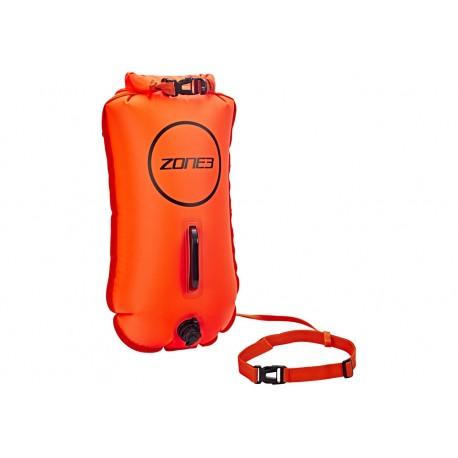 Dmuchana Bojka Asekuracyjna z kieszenią Zone3 Swim Dry Bag