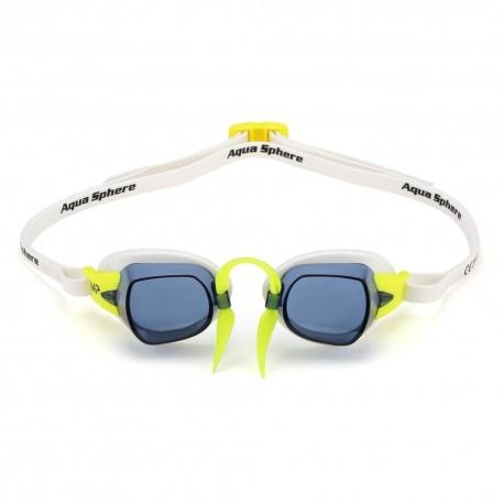 Okulary Pływackie Michael Phelps Chronos Biało Żółte