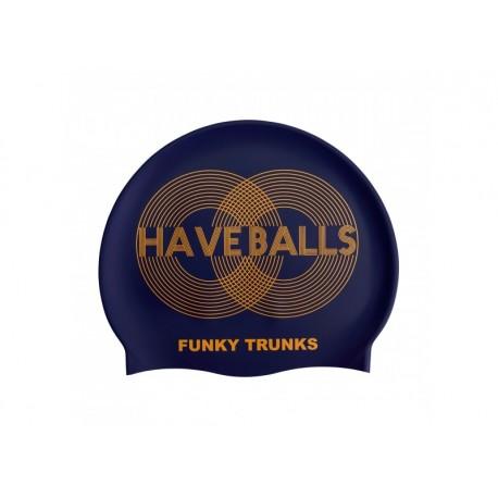 Czepek Pływacki Silikonowy Funky Trunks Golden Balls