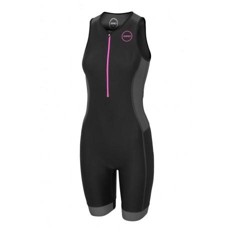 Strój Triathlonowy Zone3 Aquaflo+ 2020 Damski Czarno/Różowy