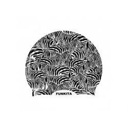 Czepek Pływacki Silikonowy Funkita Zebra Crossing