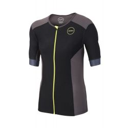 Koszulka Triathlonowa Zone3 Aquaflo+ Short Sleeve Męska Czarno/Zielona 2020