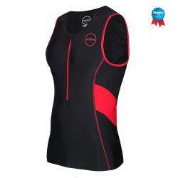 Koszulka Triathlonowa Zone3 Activate Męska Czerwono/Czarna 2020